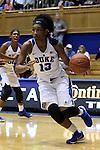 05 November 2015: Duke's Crystal Primm. The Duke University Blue Devils hosted the Pfeiffer University Falcons at Cameron Indoor Stadium in Durham, North Carolina in a 2015-16 NCAA Women's Basketball Exhibition game. Duke won the game 113-36.