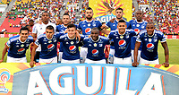IBAGUE - COLOMBIA, 21-04-2018: Los jugadores del Millonarios, posan para una foto durante partido entre Deportes Tolima y Millonarios de la fecha 17 de la Liga Aguila I 2018, jugado en el estadio Manuel Murillo Toro de la ciudad de Ibague. / Players of Millonarios, pose for a photo during a match between Deportes Tolima and Millonarios of the 17th date for the Aguila League I 2018,  played at Manuel Murillo Toro stadium in Ibague city. Photo: VizzorImage / Juan Carlos Escobar / Cont.