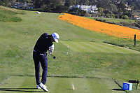 Rafa Cabrera-Bello (ESP) tees off the 8th tee during Sunday's Final Round of the 2018 AT&amp;T Pebble Beach Pro-Am, held on Pebble Beach Golf Course, Monterey,  California, USA. 11th February 2018.<br /> Picture: Eoin Clarke | Golffile<br /> <br /> <br /> All photos usage must carry mandatory copyright credit (&copy; Golffile | Eoin Clarke)