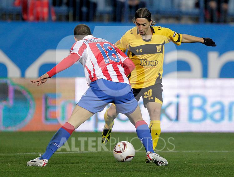 Aris Thessaloniki's Javito during UEFA Europe League match.December,1,2010. (ALTERPHOTOS/Acero)