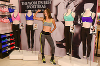 LOS ANGELES, CA - OCTOBER 24: Victoria's Secret reveals the world's best sport bras with supermodel Alessandra Ambrosio at the Victoria's Secret Beverly Center store on October 24, 2013 in Los Angeles, California. (Photo by Rob Latour/Celebrity Monitor)