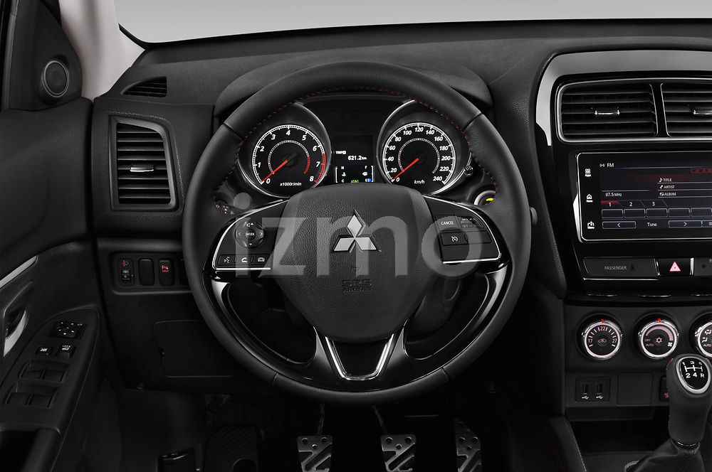 Car pictures of steering wheel view of a 2019 Mitsubishi ASX Black Collection 5 Door SUV