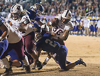 NWA Democrat-Gazette/BEN GOFF @NWABENGOFF<br /> Derrium Thompson (32) of Prescott breaks into the end zone past Booneville defender Anthony McKesson to score a touchdown in the fourth quarter Saturday, Dec. 1, 2018, during the class 3A state semifinal game at Bearcat Stadium in Booneville.