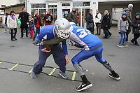 Football-Demonstration der Darmstadt Diamonds im Rahmen der WAA