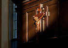 Oct. 12, 2012; Crucifix in the Oak Room, South Dining Hall...Photo by Matt Cashore/University of Notre Dame