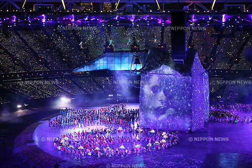 Opening Ceremony, .JULY 27, 2012 - Opening Ceremony : .Opening Ceremony .at Olympic Park - Olympic Stadium .during the London 2012 Olympic Games in London, UK. .(Photo by YUTAKA/AFLO SPORT) [1040]