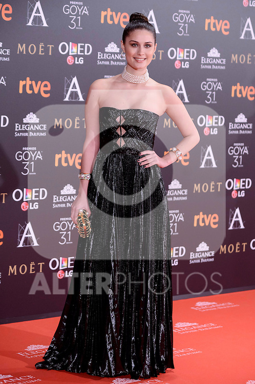 Nerea Camacho attends to the Red Carpet of the Goya Awards 2017 at Madrid Marriott Auditorium Hotel in Madrid, Spain. February 04, 2017. (ALTERPHOTOS/BorjaB.Hojas)
