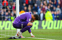 Derby County's Kelle Roos reacts after the final whistle<br /> <br /> Photographer Alex Dodd/CameraSport<br /> <br /> The EFL Sky Bet Championship Play-off  First Leg - Derby County v Leeds United - Thursday 9th May 2019 - Pride Park - Derby<br /> <br /> World Copyright © 2019 CameraSport. All rights reserved. 43 Linden Ave. Countesthorpe. Leicester. England. LE8 5PG - Tel: +44 (0) 116 277 4147 - admin@camerasport.com - www.camerasport.com