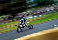 Roger Bland (Wanganui) competes in the Supermoto. The 2017 Suzuki series Cemetery Circuit motorcycle racing at Cooks Gardens in Wanganui, New Zealand on Tuesday, 27 December 2017. Photo: Dave Lintott / lintottphoto.co.nz