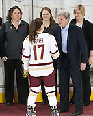Courtney Kennedy (BC - Associate Head Coach), Meghan Grieves (BC - 17), Katie Crowley (BC - Head Coach), Brad Bates (BC - AD), ? - The Boston College Eagles defeated the visiting Providence College Friars 7-1 on Friday, February 19, 2016, at Kelley Rink in Conte Forum in Boston, Massachusetts.
