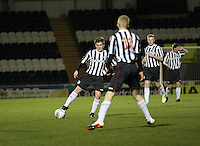 Lewis McLear in the St Mirren v Dundee Clydesdale Bank Scottish Premier League Under 20 match played at St Mirren Park, Paisley on 14.1.13.
