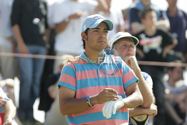 Pablo Larrazabal, current leader,arrives on the 18th tee during the 3rd round of the 2008 Open de France Alstom at Golf National, Paris, France June 28th 2008 (Photo by Eoin Clarke/GOLFFILE)
