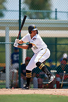 GCL Pirates Emilson Rosado (10) bats during a Gulf Coast League game against the GCL Red Sox on August 1, 2019 at Pirate City in Bradenton, Florida.  GCL Red Sox defeated the GCL Pirates 11-3.  (Mike Janes/Four Seam Images)