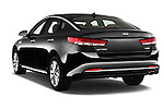 Car pictures of rear three quarter view of 2016 KIA Optima Sense 4 Door Sedan Angular Rear