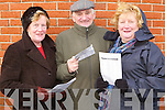 Coursing : Soaking up the atmosphere at the Ballybeggan Park Coursing on Tuesday were Kitty Galvin, Ricky OConnor and Ena Galvin of Ballyseede..