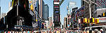 Times Square in New York City, is now an open pedestrian mall with no vehicular traffic.