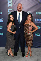 NEW YORK, NY - MAY 13: Brie Bella and Nikki Bella with Paul 'Big Show' Wight at the FOX 2019 Upfront at Wollman Rink in Central Park, New York City on May 13, 2019. <br /> CAP/MPI99<br /> &copy;MPI99/Capital Pictures