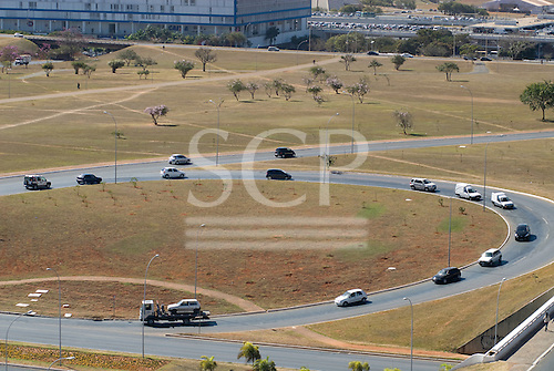 Brasilia, Brazil. A 'scissor' (tesoura) road junction.