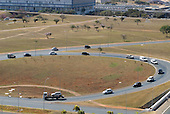 Brasilia, Brazil. A 'scissor' (tesoura) road junction.
