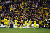 26 SEPTEMBAR 2009:  Columbus Crew players celebrate thier victory 2-0 after the Los Angeles Galaxy at Columbus Crew MLS game in Columbus, Ohio on May 27, 2009. Columbus defeated LA 2-0
