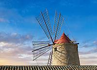 Pictures & images of Nubia Salt works Museum and Nubia wind mill,  World Wildlife reserve of Saline di Trapani and Paceco site, Trapani Sicily.