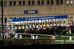Jockeys and horses starting the race 4 during Hong Kong Racing at Happy Valley Racecourse on September 13, 2017 in Hong Kong, China. Photo by Marcio Rodrigo Machado / Power Sport Images