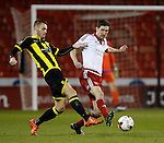 Tom Naylor of Burton Albion tussles with Chris Basham of Sheffield Utd - English League One - Sheffield Utd vs Burton Albion - Bramall Lane Stadium - Sheffield - England - 1st March 2016 - Pic Simon Bellis/Sportimage