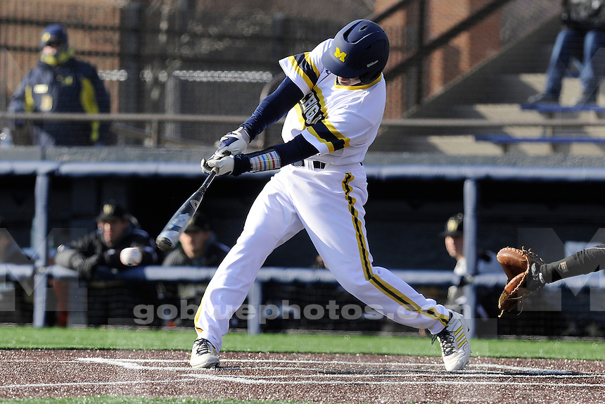 Michigan baseball beat Western Michigan University, 12-4, in their home opener at Fisher Stadium in UM's Wilpon Complex, Wednesday, March 26, 2014.