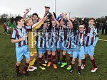 Drogheda Marsh Crescent celebrate after beating Termonfeckin in the final. Photo:Colin Bell/pressphotos.ie