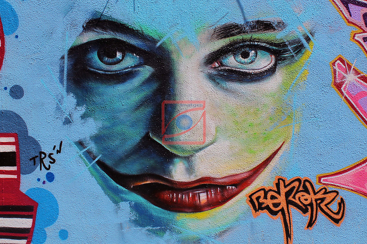 Street Art-Graffittis.<br /> Barcelona, carrer Pallars.