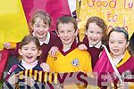 CHEERLEADERS: Duagh supporters Katelyn Dennehy, Kylie Walsh, Aaron OConnor, Margaret Walsh and Katie Ahern..