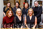 Enjoying the evening in Bella Bia on Friday.<br /> Seated l to r: Margaret Foley, Nicola Power and Carmen Hails.<br /> Back l to r: Sarah Kelliher, Moira Hanafin, Mary Brosnan and Alex White.