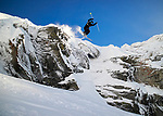 Pix: Shaun Flannery/shaunflanneryphotography.com<br /> <br /> COPYRIGHT PICTURE&gt;&gt;SHAUN FLANNERY&gt;01302-570814&gt;&gt;07778315553&gt;&gt;<br /> <br /> December 2018<br /> La Rosiere<br /> <br /> Mason Flannery<br /> Cliff drop