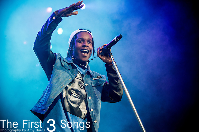 ASAP Rocky (Rakim Mayers) performs at Klipsch Music Center in Indianapolis, Indiana.
