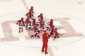 - The Boston University Terriers defeated the visiting Merrimack College Warriors 4-0 (EN) on Friday, January 29, 2016, at Agganis Arena in Boston, Massachusetts.