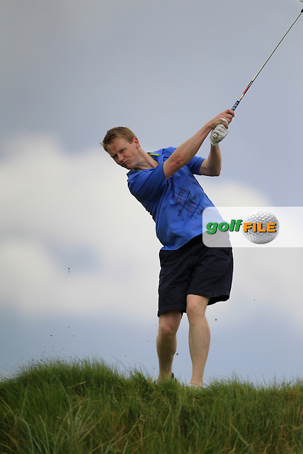 Mark Ryan (Grange) on the 6th tee during the South of Ireland Amateur Open Championship First Round at Lahinch Golf Club  27th July 2013 <br /> Picture:  Thos Caffrey / www.golffile.ie