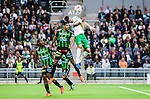 Stockholm 2014-06-18 Fotboll Superettan Hammarby IF - GAIS :  <br /> Hammarbys Andreas Haddad i nickduell med GAIS Sandeep Mankoo <br /> (Foto: Kenta J&ouml;nsson) Nyckelord:  Superettan Tele2 Arena Hammarby HIF Bajen GAIS