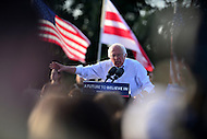 Washington, DC - June 9, 2016: 2016 presidential candidate Sen. Bernie Sanders speaks during caampaign  rally on the grounds of RFK Stadium in the District of Columbia, June 9, 2016. Before the rally, Sanders met with President Obama.  (Photo by Don Baxter/Media Images International)