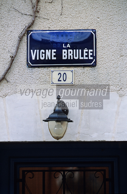 Europe/France/Pays de la Loire/49/Maine-et-Loire/Corniche angevine/Chaudefonds-sur-Layon: Rue de la Vigne Brulée