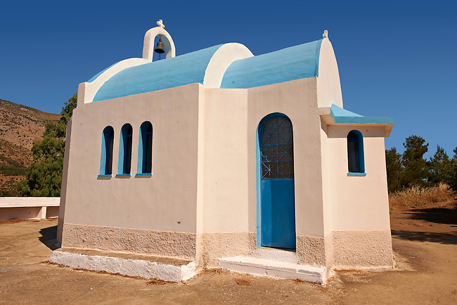 Small orthodox chapel in north West Chios Island Greece.