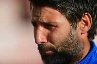 Lincoln City manager Danny Cowley during the pre-match warm-up<br /> <br /> Photographer Chris Vaughan/CameraSport<br /> <br /> The EFL Sky Bet League Two Play Off Second Leg - Exeter City v Lincoln City - Thursday 17th May 2018 - St James Park - Exeter<br /> <br /> World Copyright &copy; 2018 CameraSport. All rights reserved. 43 Linden Ave. Countesthorpe. Leicester. England. LE8 5PG - Tel: +44 (0) 116 277 4147 - admin@camerasport.com - www.camerasport.com