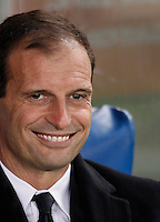 Calcio, Serie A: Lazio vs Juventus. Roma, stadio Olimpico, 4 dicembre 2015.<br /> Juventus coach Massimiliano Allegri waits for the start of the Italian Serie A football match between Lazio and Juventus at Rome's Olympic stadium, 4 December 2015.<br /> UPDATE IMAGES PRESS/Isabella Bonotto