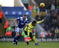 Blackburn Rovers Danny Graham in action with Birmingham City's Harlee Dean<br /> <br /> Photographer Mick Walker/CameraSport<br /> <br /> The EFL Sky Bet Championship - Birmingham City v Blackburn Rovers - Saturday 23rd February 2019 - St Andrew's - Birmingham<br /> <br /> World Copyright © 2019 CameraSport. All rights reserved. 43 Linden Ave. Countesthorpe. Leicester. England. LE8 5PG - Tel: +44 (0) 116 277 4147 - admin@camerasport.com - www.camerasport.com