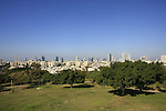 Israel, Southern Coastal plain. Edith Wolfson Park in Ramat Gan, Tel Aviv is in the background