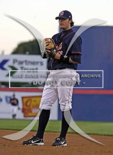 September 2, 2004:  Brett Harper of the Binghamton Mets, Eastern League (AA) affiliate of the New York Mets, during a game at NYSEG Stadium in Binghamton, NY.  Photo by:  Mike Janes/Four Seam Images