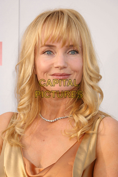 REBECCA DeMORNAY.35th AFI Life Achievement Award Honoring Al Pacino held at the Kodak Theatre, Hollywood, California, USA..June 7th, 2007.headshot portrait diamond necklace gold satin neck cowl .CAP/ADM/RE.©Russ Elliot/AdMedia/Capital Pictures
