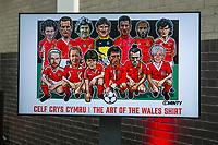A general view of The Art of the Wales Shirt Exhibition at St Fagans National Museum of History in Cardiff, Wales, UK. Monday 11 November 2019