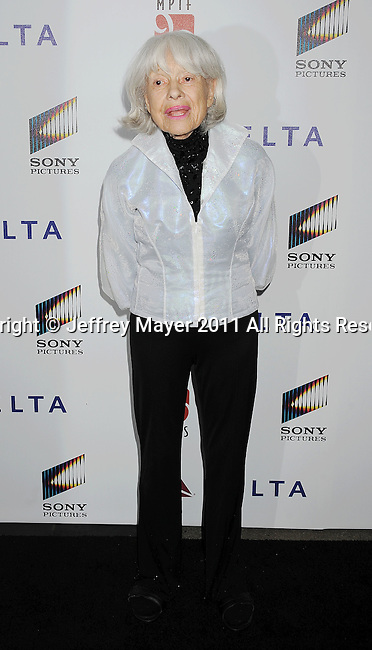"""CULVER CITY, CA - OCTOBER 15: Carol Channing attends the The 6th Annual """"A Fine Romance"""" Event at Sony Pictures Studios on October 15, 2011 in Culver City, California."""