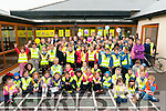 "Walk to School: Pupils from Ballylongford NS pictured on their arrival  on ""Walk to School""  program outside  Ballylongford NS on Friday morning last."