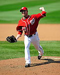 23 August 2009: Washington Nationals' pitcher Sean Burnett on the mound in relief against the Milwaukee Brewers at Nationals Park in Washington, DC. The Nationals defeated the Brewers 8-3 in the third game of their four-game series, snapping a five games losing streak. Mandatory Credit: Ed Wolfstein Photo